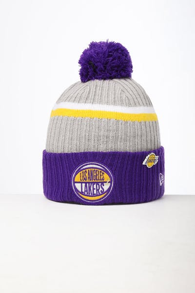 New Era Los Angeles Lakers Knit NBA Draft Beanie Royal/OTC