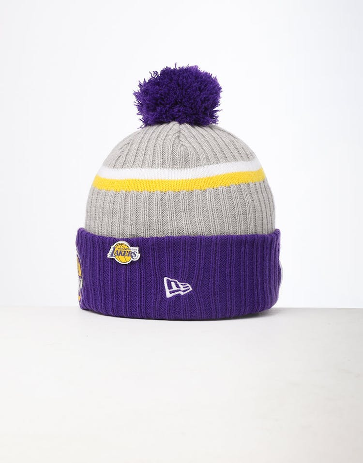 4e48a94f6 New Era Los Angeles Lakers Knit NBA Draft Beanie Royal/OTC