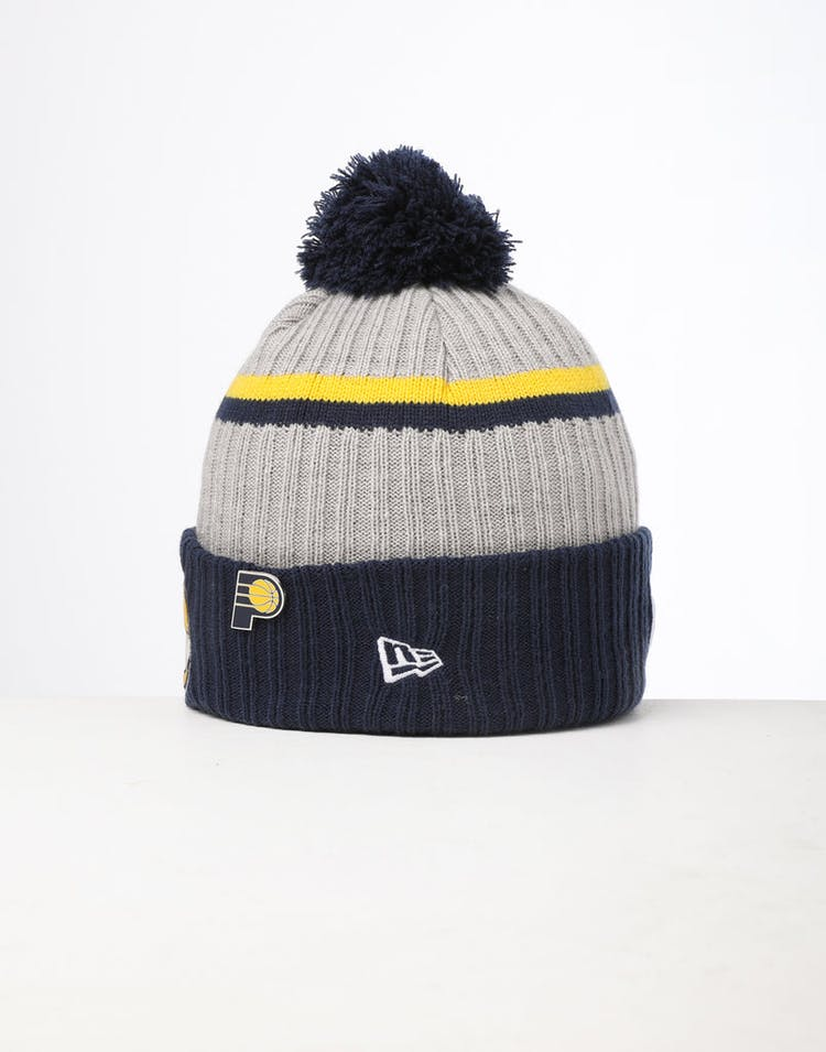 outlet store fe475 35bc5 New Era Indiana Pacers Knit NBA Draft Beanie Navy OTC