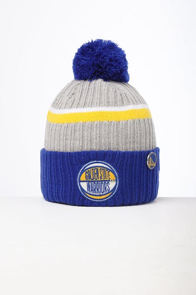 New Era Golden State Warriors Knit NBA Draft Beanie Royal/OTC