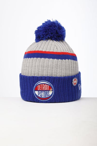 New Era Detroit Pistons Knit NBA Draft Beanie Dark Blue/OTC