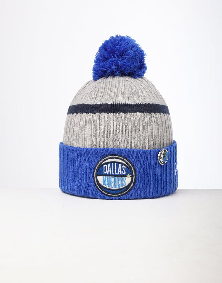 huge discount 696a2 50848 New Era Dallas Mavericks Knit NBA Draft Beanie Blue OTC – Culture Kings