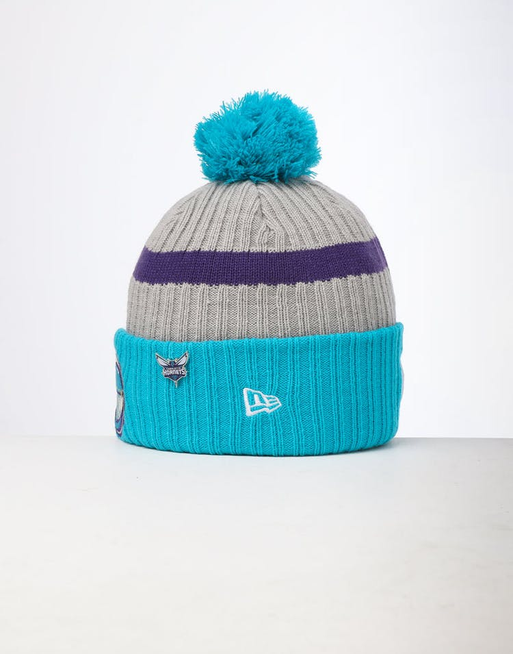 40eb391b0 New Era Charlotte Hornets Knit NBA Draft Beanie Teal/OTC