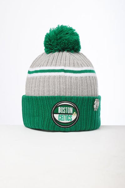 differently b5eb3 1312d New Era Boston Celtics Knit NBA Draft Beanie Green OTC ...