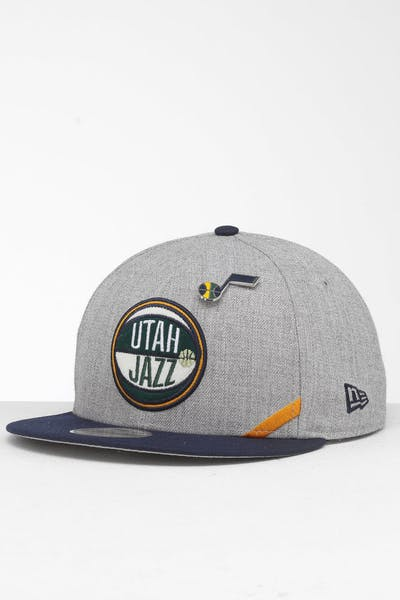 New Era Utah Jazz 9Fifty NBA Draft Snapback Navy/OTC