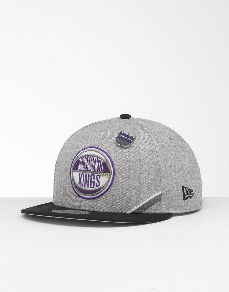 new style 5b9df 9c9dd New Era Sacramento Kings 9Fifty NBA Draft Snapback Black OTC – Culture Kings