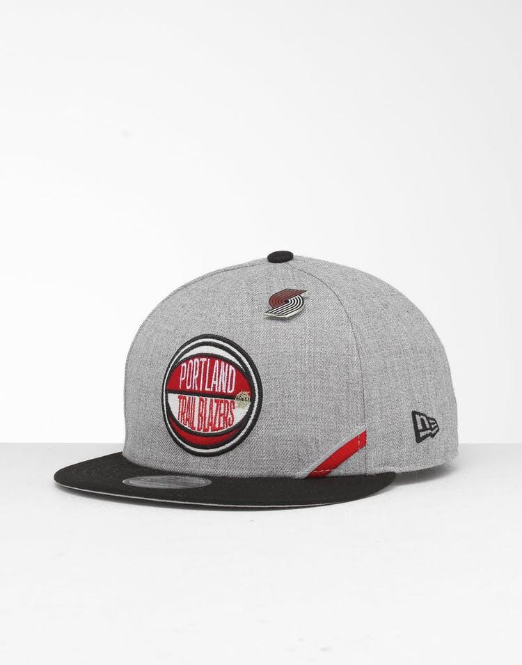 New Era Portland Trail Blazers 9Fifty NBA Draft Snapback Black/OTC
