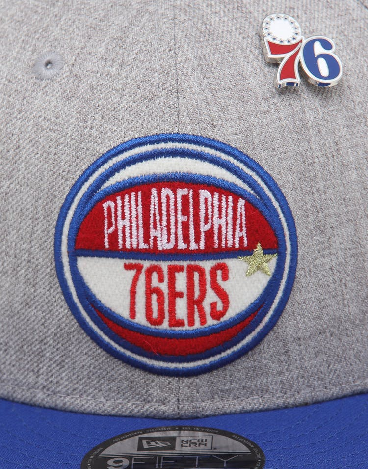 online retailer 7d0b1 5f83b New Era Philadelphia 76ers 9Fifty NBA Draft Snapback Dark Blue OTC