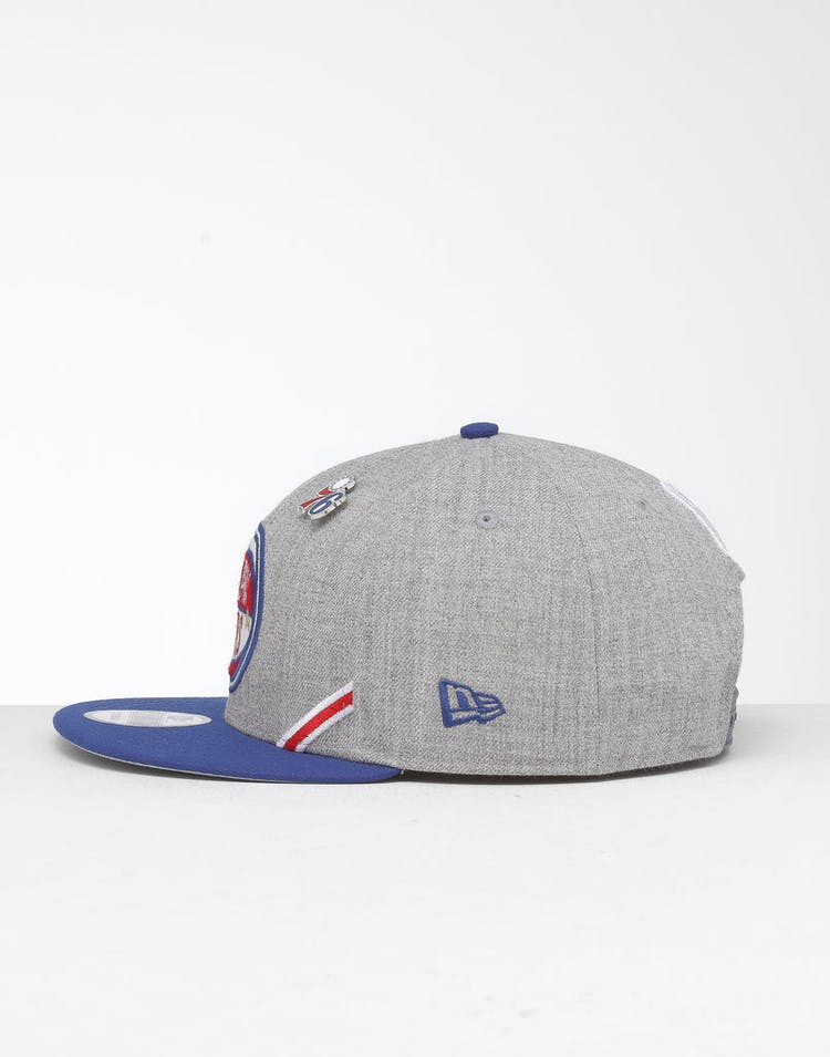 promo code d97da a4fa8 New Era Philadelphia 76ers 9Fifty NBA Draft Snapback Dark Blue OTC –  Culture Kings