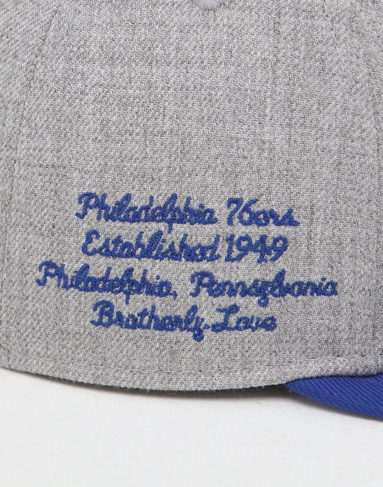 online retailer dab28 30903 New Era Philadelphia 76ers 9Fifty NBA Draft Snapback Dark Blue OTC
