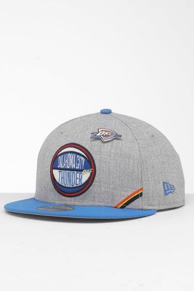 online store 36f55 9e46a New Era Oklahoma City Thunder 9Fifty NBA Draft Snapback Blue OTC ...