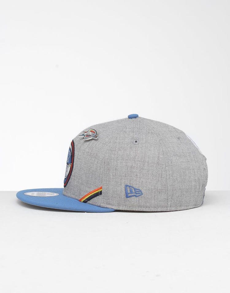 low priced 91448 d9056 New Era Oklahoma City Thunder 9Fifty NBA Draft Snapback Blue OTC