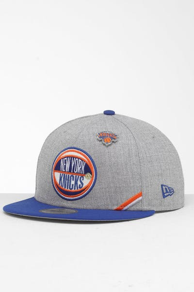New Era New York Knicks 9Fifty NBA Draft Snapback Dark Blue/OTC