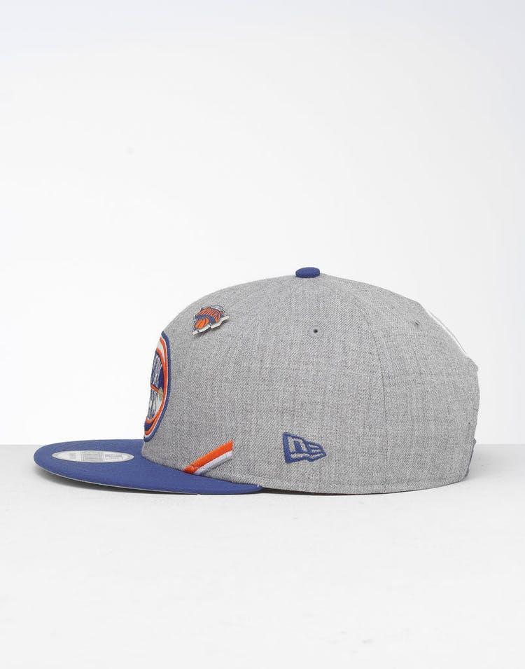 quality design 4fcda 3e807 New Era New York Knicks 9Fifty NBA Draft Snapback Dark Blue OTC