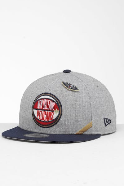New Era New Orleans Pelicans 9Fifty NBA Draft Snapback Navy/OTC