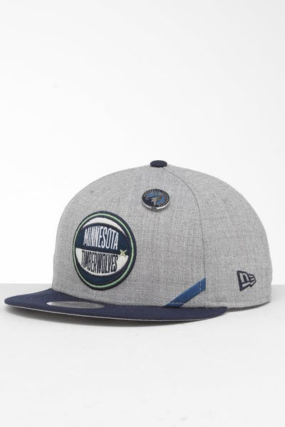 a211dd95819e96 New Era Minnesota Timberwolves 9Fifty NBA Draft Snapback Navy/OTC ...