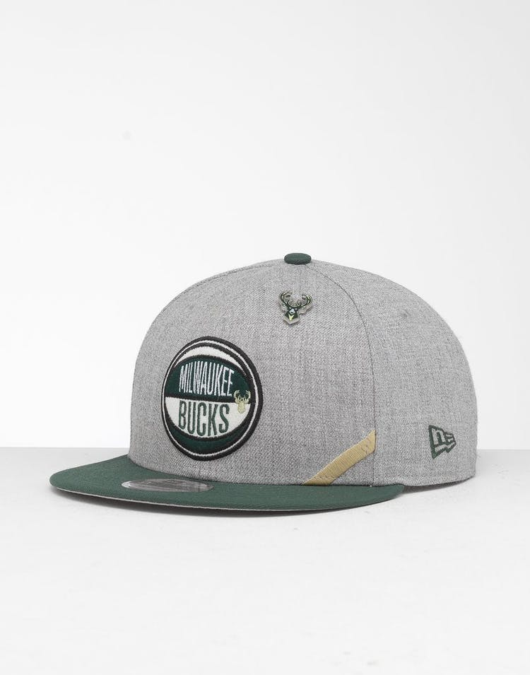 official photos 66153 b8f3e New Era Milwaukee Bucks 9Fifty NBA Draft Snapback Green OTC – Culture Kings