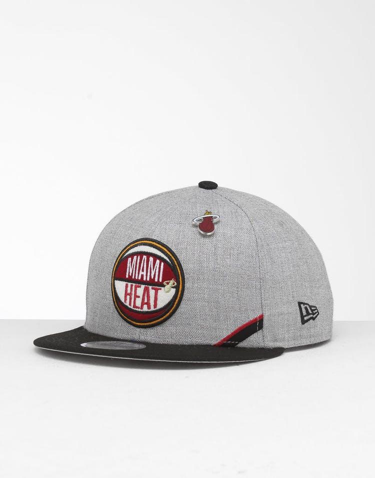 online store f8b28 bf233 New Era Miami Heat 9Fifty NBA Draft Snapback Black OTC – Culture Kings