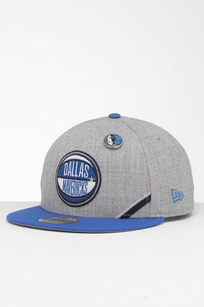3c49e5b7 New Era Dallas Mavericks 9Fifty NBA Draft Snapback Blue/OTC