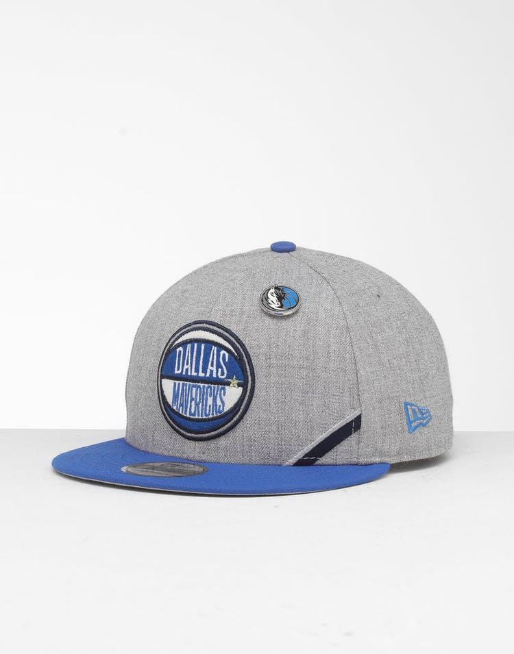 94ec56685 New Era Dallas Mavericks 9Fifty NBA Draft Snapback Blue/OTC