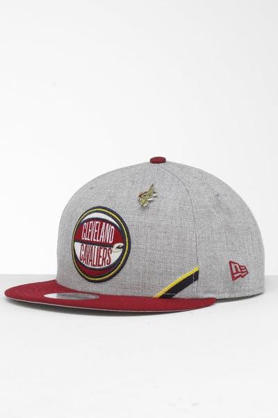 new concept 9e4d1 49eee New Era Cleveland Cavaliers 9Fifty NBA Draft Snapback Maroon OTC ...