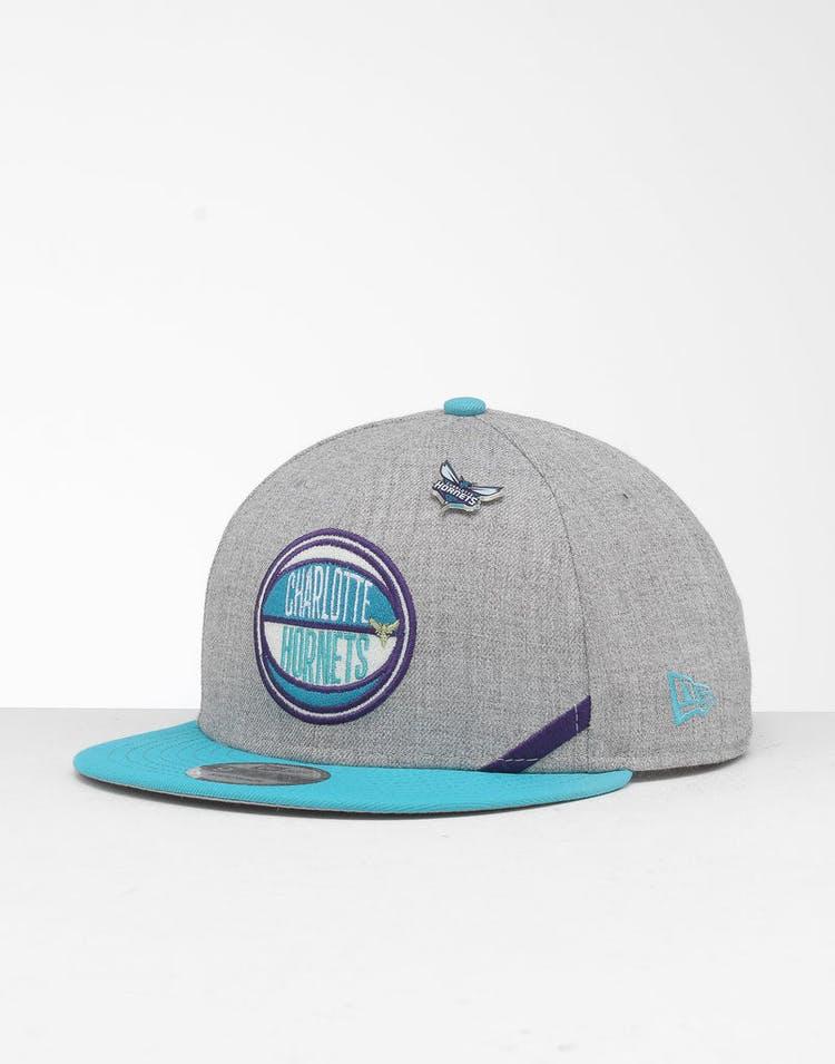 designer fashion 602cb 12023 New Era Charlotte Hornets 9Fifty NBA Draft Snapback Teal OTC – Culture Kings