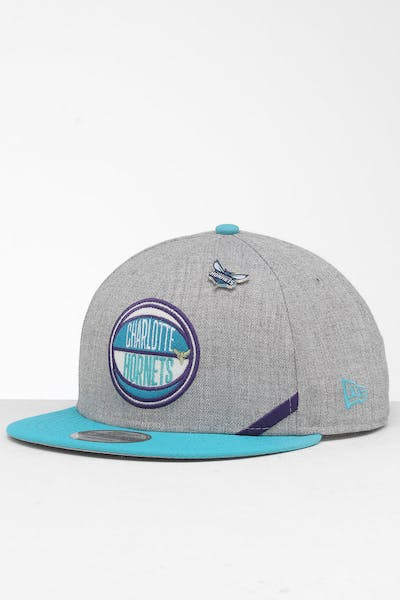 New Era Charlotte Hornets 9Fifty NBA Draft Snapback Teal/OTC