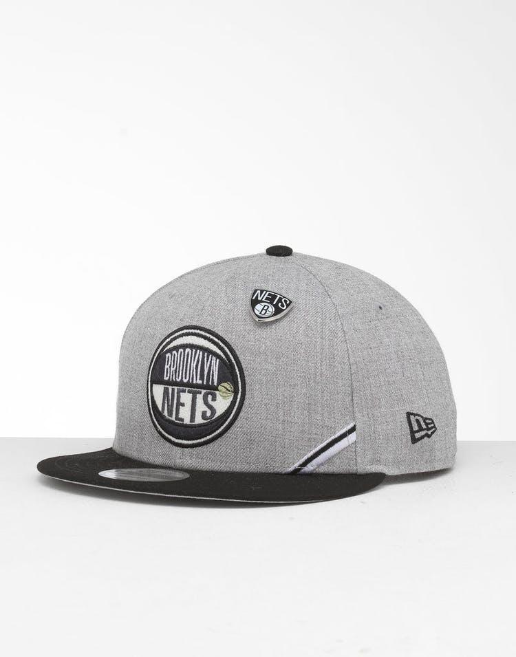 meet bb1b4 da829 New Era Brooklyn Nets 9Fifty NBA Draft Snapback Black OTC – Culture Kings