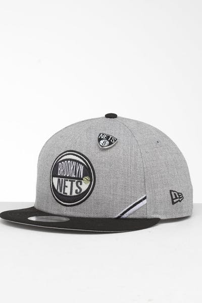 new product d383f 68868 New Era Brooklyn Nets 9Fifty NBA Draft Snapback Black OTC ...