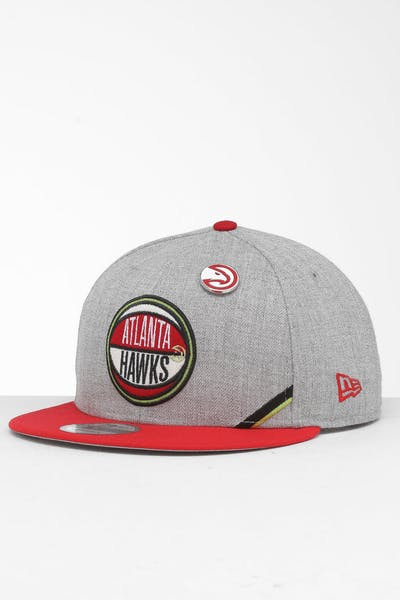 New Era Atlanta Hawks 9Fifty NBA Draft Snapback Red/OTC