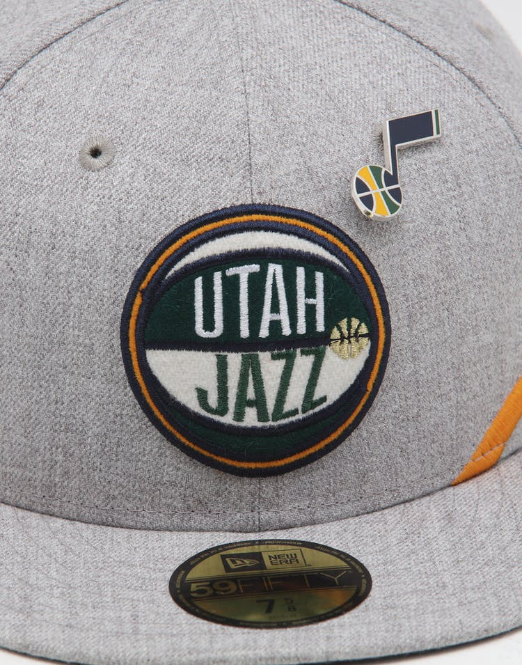 buy online 3e77d 3dad1 New Era Utah Jazz 59FIFTY NBA Draft Fitted Navy OTC