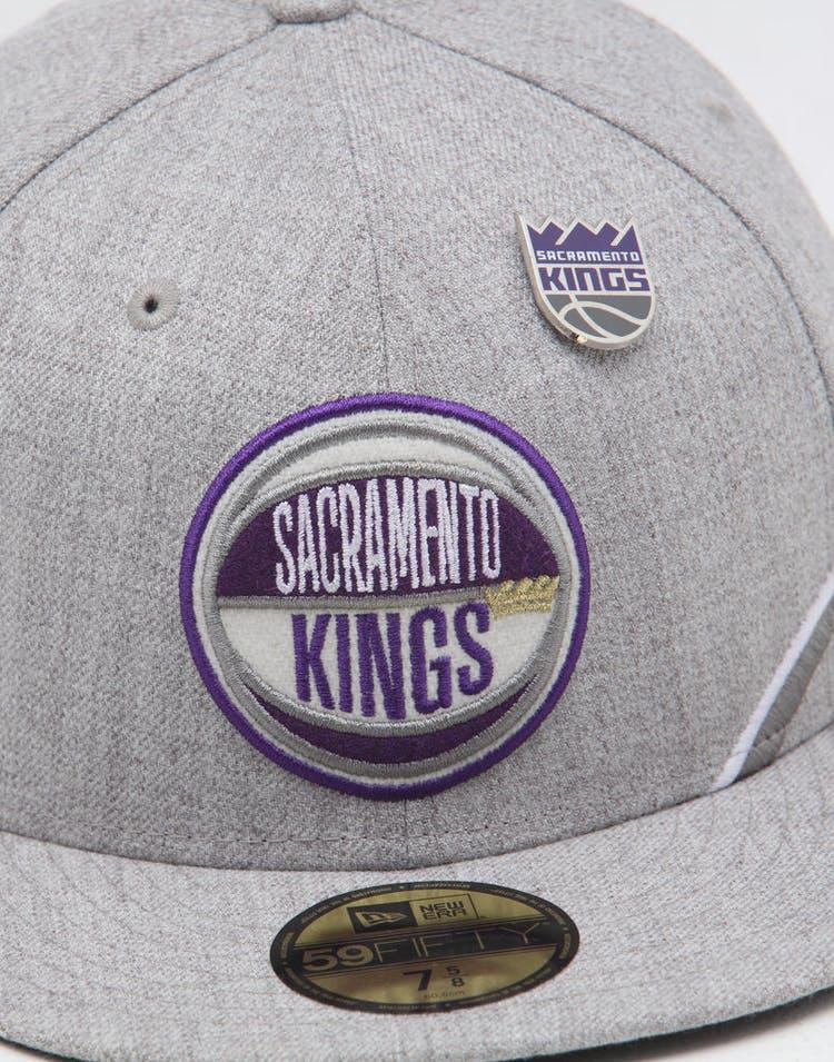 on sale 3b930 02918 New Era Sacramento Kings 59FIFTY NBA Draft Fitted Black OTC