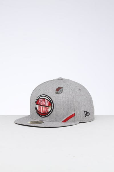 new concept b7028 db814 New Era Portland Trail Blazers 59FIFTY NBA Draft Fitted Black OTC ...