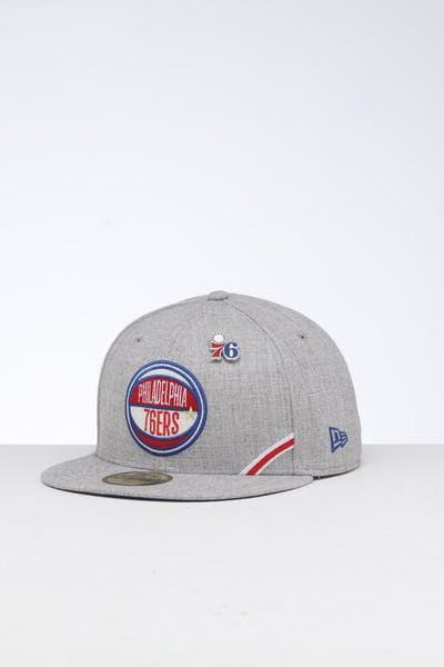new style 7b2b3 980b7 New Era Philadelphia 76ers 59FIFTY NBA Draft Fitted Dark Blue OTC ...