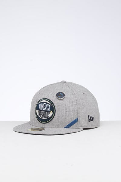 New Era Minnesota Timberwolves 59FIFTY NBA Draft Fitted Navy/OTC