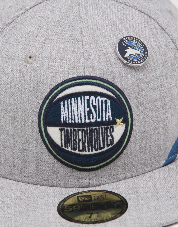super popular 09cf2 c7b8b New Era Minnesota Timberwolves 59FIFTY NBA Draft Fitted Navy/OTC
