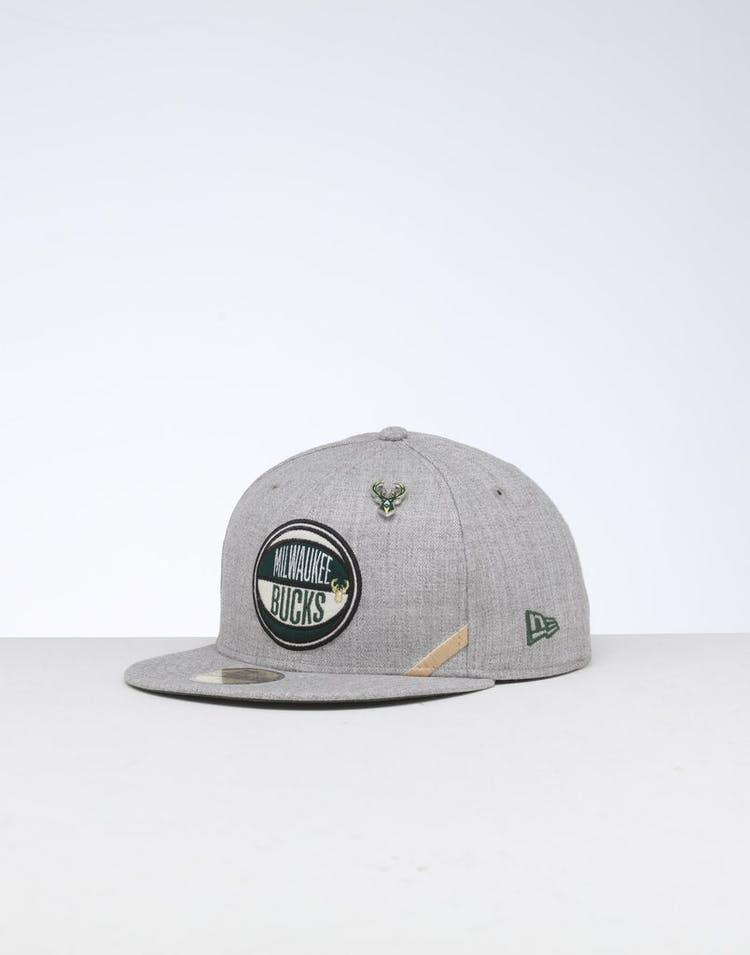 separation shoes 18825 375f6 New Era Milwaukee Bucks 59FIFTY NBA Draft Fitted Green OTC – Culture Kings