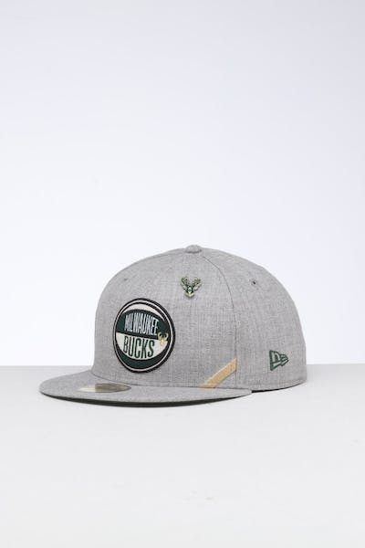 huge selection of b9f37 cc4b0 New Era Milwaukee Bucks 59FIFTY NBA Draft Fitted Green OTC ...
