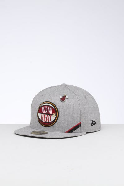 New Era Miami Heat 59FIFTY NBA Draft Fitted Black/OTC