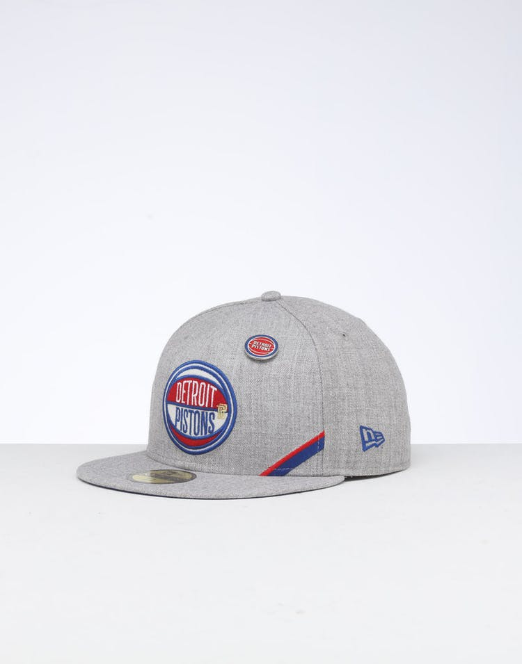 quality design 35ad8 1ca26 New Era Detroit Pistons 59FIFTY NBA Draft Fitted Blue OTC – Culture Kings