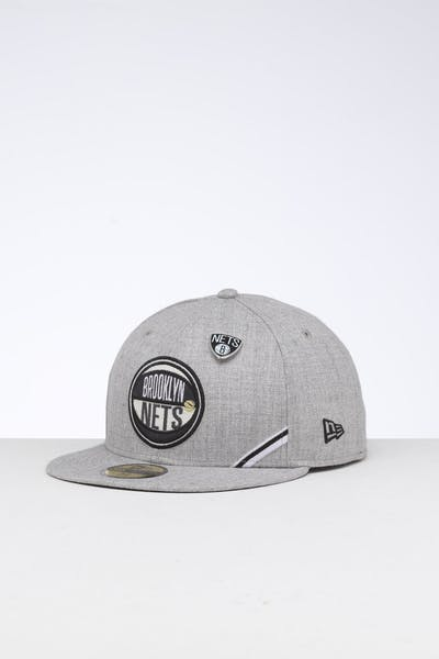 New Era Brooklyn Nets 59FIFTY NBA Draft Fitted Dark Black/OTC