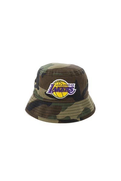 7056fb4cf New Era Infant Los Angeles Lakers Bucket Hat Camo