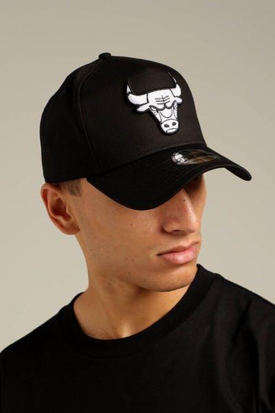 67295b23b8f New Era Chicago Bulls K-Frame Snapback Black White