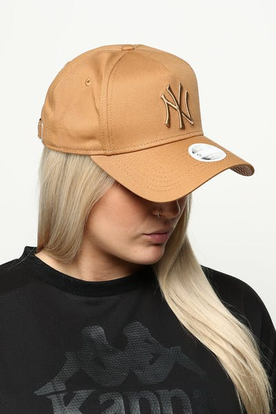 d4a271eda12 New Era Women s New York Yankees 9FORTY A-Frame Strapback Wheat Brown