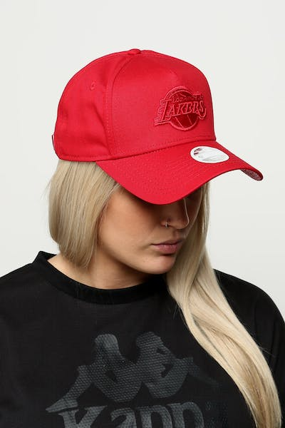 ad694b34cc6 New Era Women s Los Angeles Lakers 9FORTY A-Frame Strapback Scarlet Red  Check