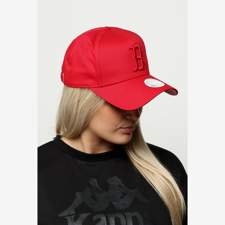 326d9a96b54 New Era Women s Boston Red Sox 9FORTY A-Frame Strapback Scarlet Red Ch – Culture  Kings