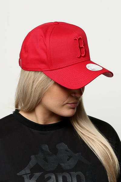 641a075352f New Era Women s Boston Red Sox 9FORTY A-Frame Strapback Scarlet Red Check