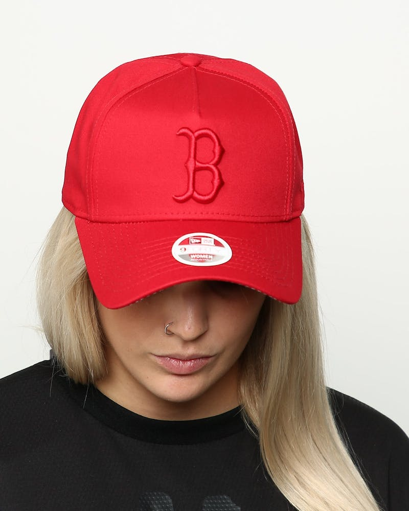 New Era Women's Boston Red Sox 9FORTY A-Frame Strapback Scarlet/Red Check
