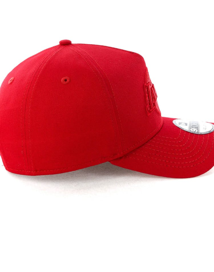the latest 7b249 2dfa3 New Era Los Angeles Lakers 9FORTY A-Frame Snapback Scarlet Red Check