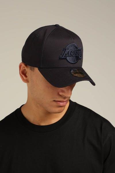 best service cfefc 07ffa New Era Los Angeles Lakers 9FORTY A-Frame Snapback Navy Tartan ...